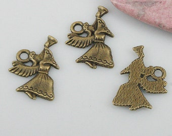 42pcs antiqued bronze color dancer charms EF0545