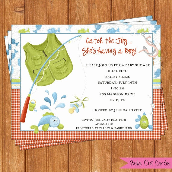 fishing invitation baby shower printable editable digital pdf file
