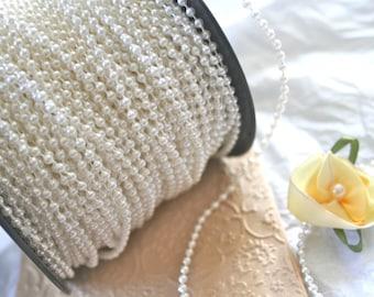 Tiny Bead String in Vintage White