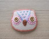 Felt owl Brooch - Cute Kawaii brooch - Owl brooch - Felt accessories - Embroidery Brooch - READY TO SHIP