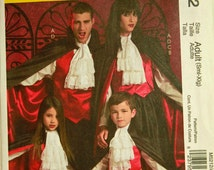 """Vampire Costumes - McCall's Pattern 5212 Uncut  All Sizes Included  Adult S-M-L-XL Chest 34-48"""""""