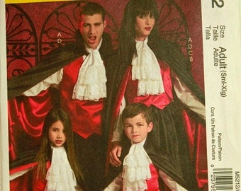 Vampire Costumes - McCall's Pattern 5212 Uncut  All Sizes Included  Adult S-M-L-XL Chest 34-48""