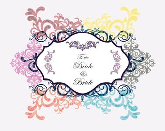 Bride to Bride Congratulations Wedding Card