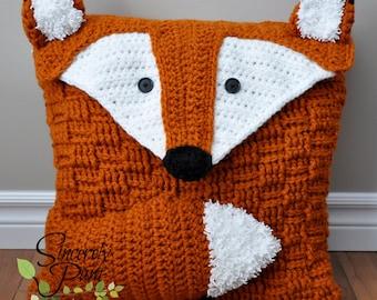 Felix the Fox Pillow Cover and Bag crochet pattern PDF
