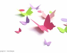 Butterfly Die-cuts, Butterfly Punches, 100 pastel butterflies, Butterfly confetti, Easter decorations, Spring decor, Spring Wedding confetti