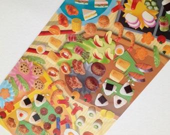 Japan Mind Wave BENTO sticker sheet