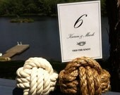 15-19 Wedding Rope Table Number Holders for your Nautical Wedding - 4 inch - Nautical Décor