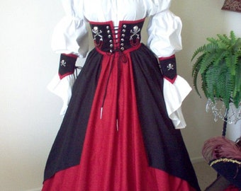 Pirate Cincher Costume Made in Any Size.