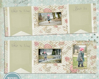 5x5 inch trifold card template - INSTANT DOWNLOAD