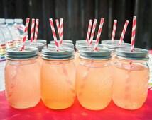 15 Pewter Daisy Cut Mason Jar Lids for Straws