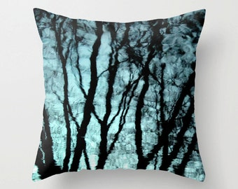 Rain Pillow, Rain Picture, Tree Reflection Pillow, Tree Pillow, Rain Reflection Picture, Rain Photo Pillow, Tree Picture, Tree Bedding, Rain