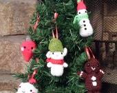 Christmas Tree Amigurumi Ornaments