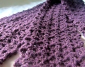 Crocheted Purple and Gold Winter Scarf