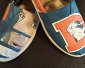 Hand-painted Custom Denver Broncos TOMS / VANS (or any sports team)  shoes