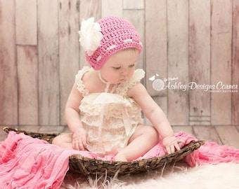 Crochet Pattern Sugar Twist Bonnet (Newborn - 2 Years) - PDF - Instant Digital Download
