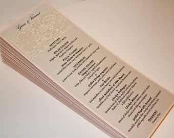 Wedding Menus/Lace Menu