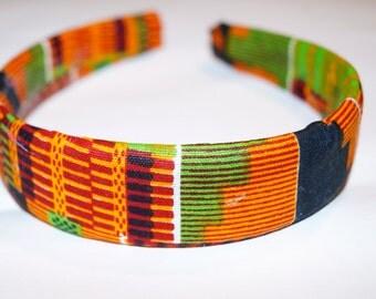 Handmade Kente Cloth patterned Headband