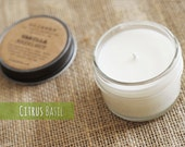 Citrus Basil, 4oz Soy Candle in a Reusable Glass Jar