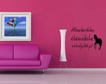 Wall Quotes Love Horse Girls Western Removable Wall Sticker Vinyl Wall Decal Quote (GX15)