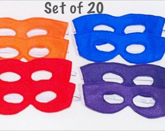 Teenage Mutant Ninja Turtle Colors Felt Mask Super Hero Dress Up Set of 20