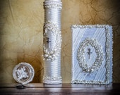 First Holy Communion...  candless,  bible, rosary, box.