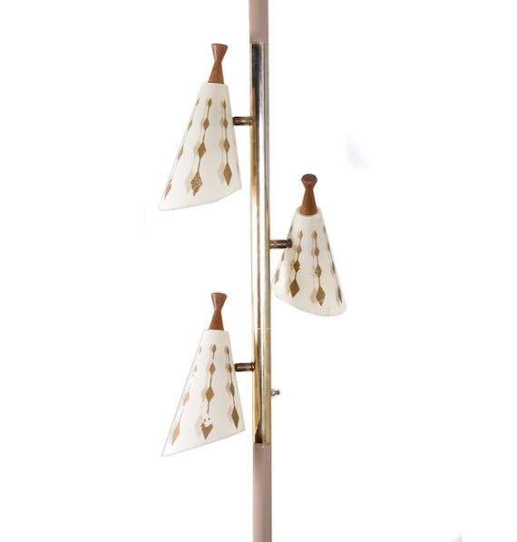 Vintage Pole Lamp Tri-Light Tension Lamp