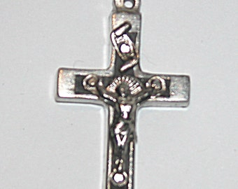 Hand cast silver crucifix to be worn as necklace