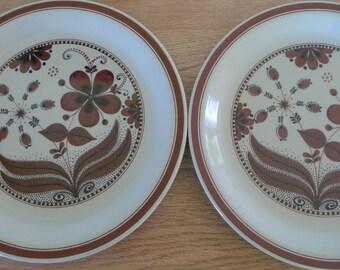 Vintage Figgjo Plates Set of Four -  Hedda Pattern Norway 1970s Design Rolf Froyland