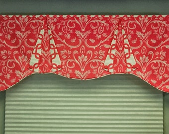 "Custom Valance CASEY Hidden Rod Pocket valance, fits 32"" - 44"" window, made to order using your fabrics, my LABOR and lining"
