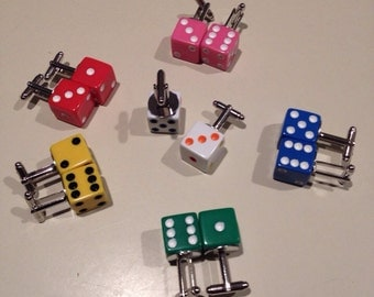 Color Dice Cufflinks