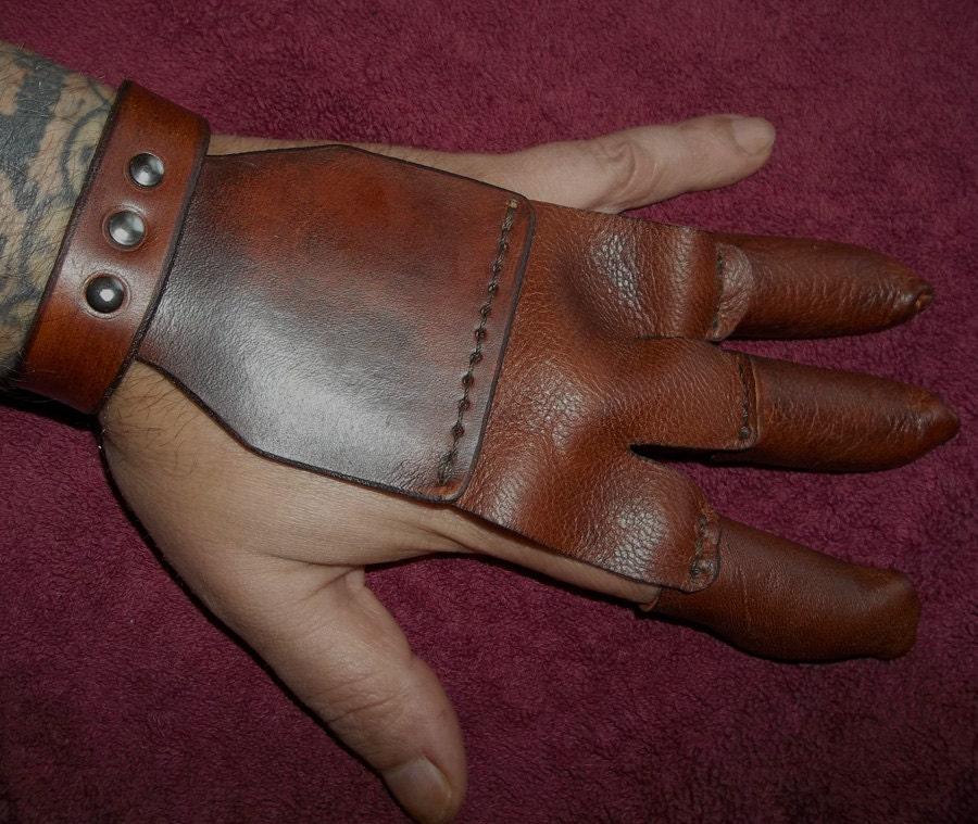 Leather Archery Glove Draw