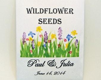 Wildflower Wedding - Seed Packet - Flower Seed Packet - Wedding Favor - Party Favor Seed Packet - Customized - Flower