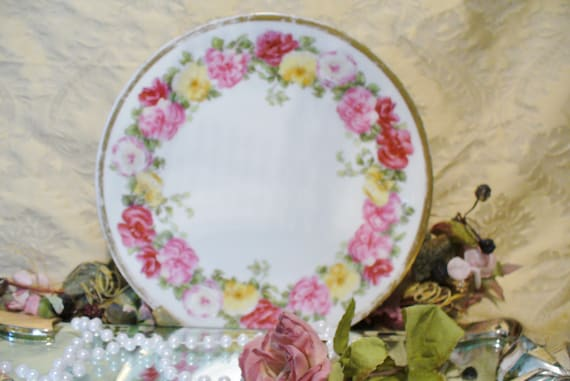 Vintage T & V Limoges France Shabby Chic Pink Roses China Plate Replacement