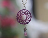 Deep Purple Dreamcatcher Necklace