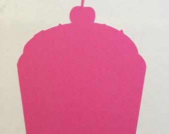 Pink Cupcake Die Cuts