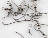 3 Dozen Black Ice Nickel Free French Hook Ear Wires