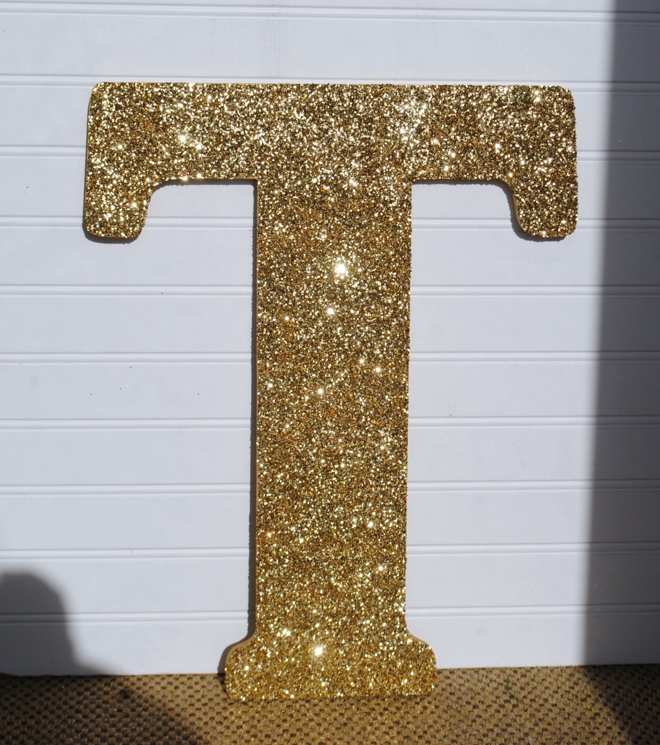 Decorative Wall Letters : Decorative gold glitter wall letters girls bedroom