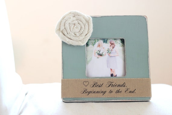 Unique Wedding Gifts For Best Friend: Bridesmaid Best Friend Gift Personalized Picture Frame Maid Of