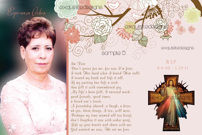 Funeral card – Memorial Card Template