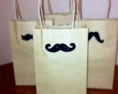 Fathers day gift bag - Kraft Paper Gift Bags - Mustache gift wrap for men - Mother's Day Gift Wrap - Bachelor Party - Gift for Dad