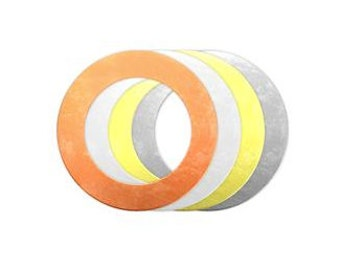5-15) 1-1/2 Inch ALUMINUM or CoPPER WASHER BLANKS - large washer blanks, 1.50 inch washers, stamping supplies, blanks, charms,