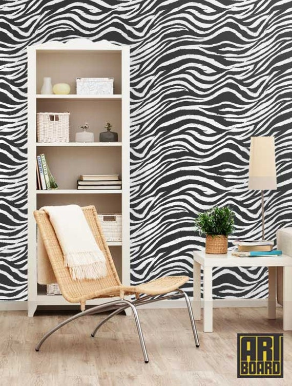 Zebra Self Adhesive Diy Wallpaper Home Decor By Artboardi