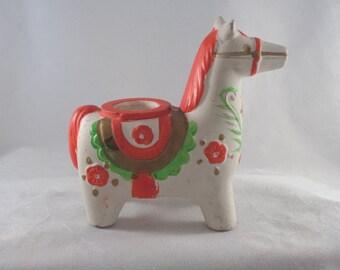 Vintage Christmas Candle Holder Holt Howard Horse 1964 Japan Very Unique