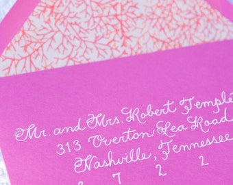 Custom Handwritten Wedding Calligraphy for Invitation Envelope Addressing - Place Cards, Escort Cards, Invitations, Signage and More