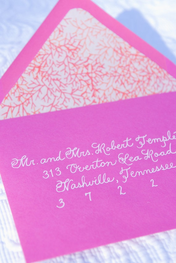 Custom Handwritten Wedding Calligraphy For Invitation Envelope