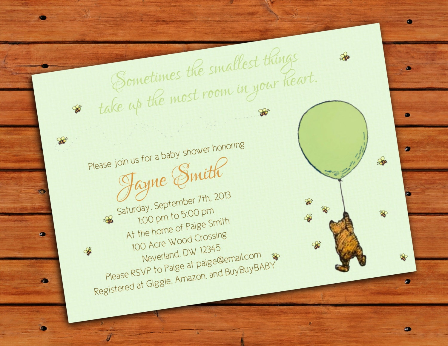 Old Fashioned Winnie The Pooh Invitations Baby Shower Model ...
