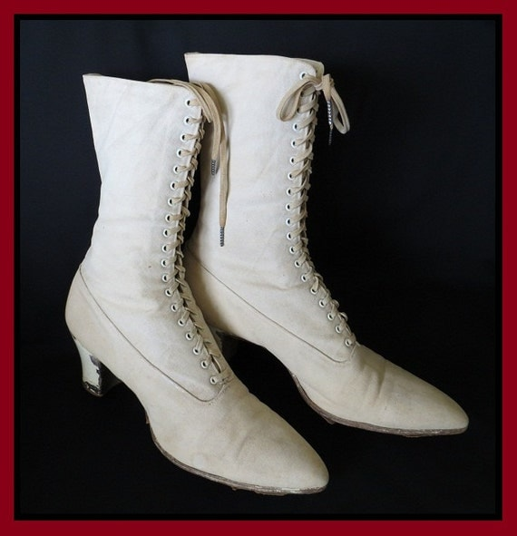 Vintage Boots Circa 1900s from Classic Antique on Etsy