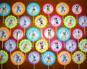 30 ct Mickey Mouse Clubhouse cupcake toppers picks personalized Great for birthday party favors