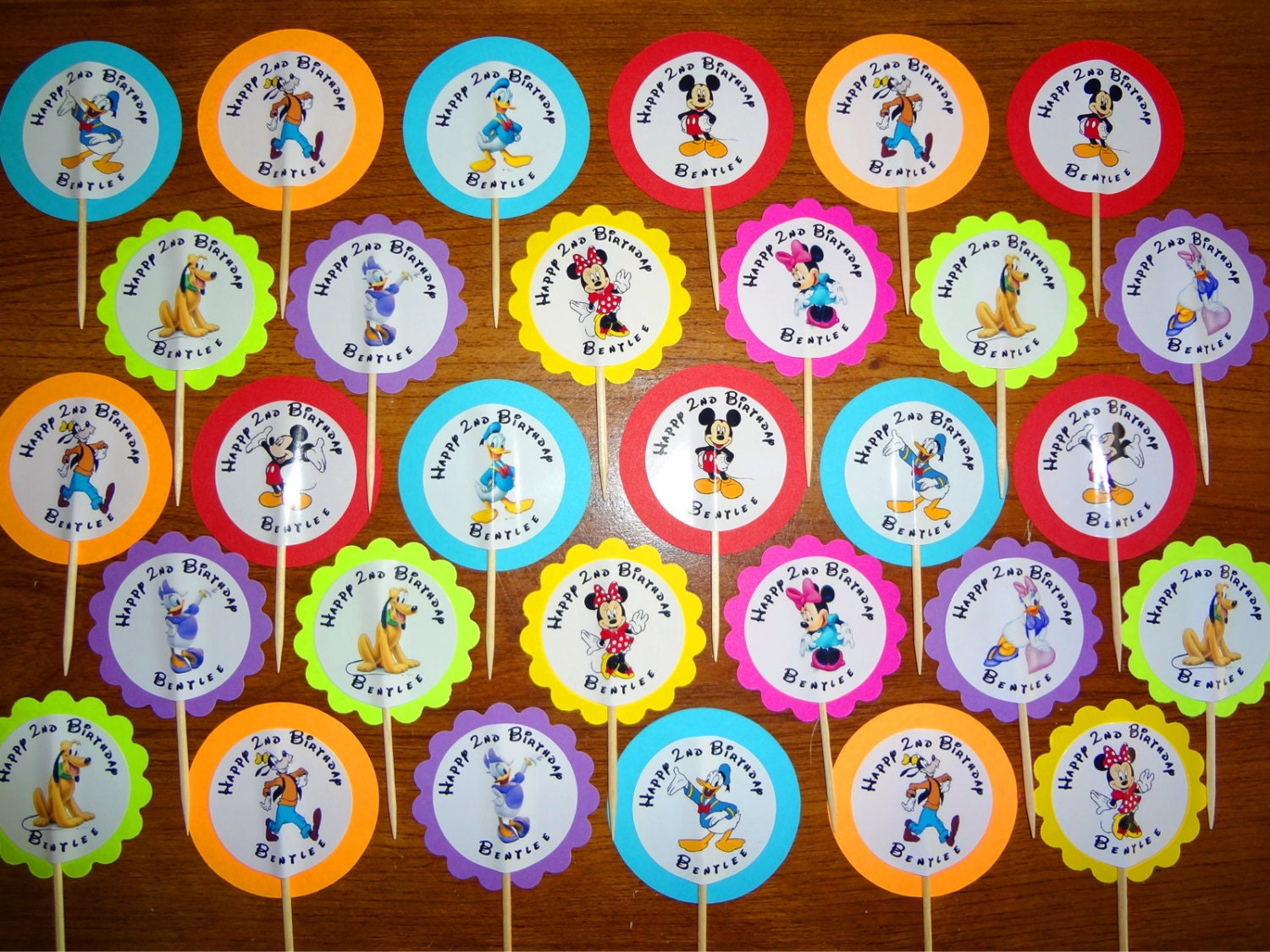 30 ct Mickey Mouse Clubhouse cupcake toppers by ...