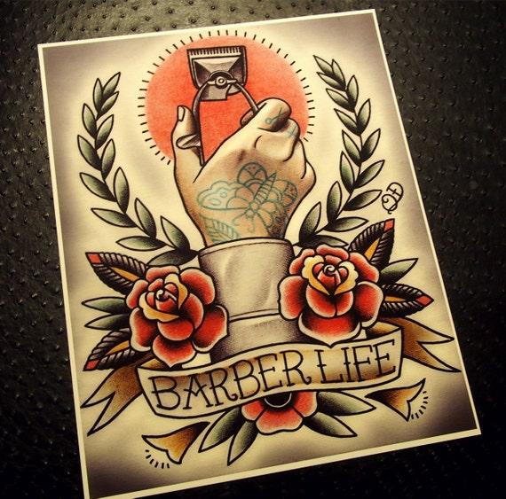 Tattoo Designs Gents: Vita Tattoo Flash Del Barbiere